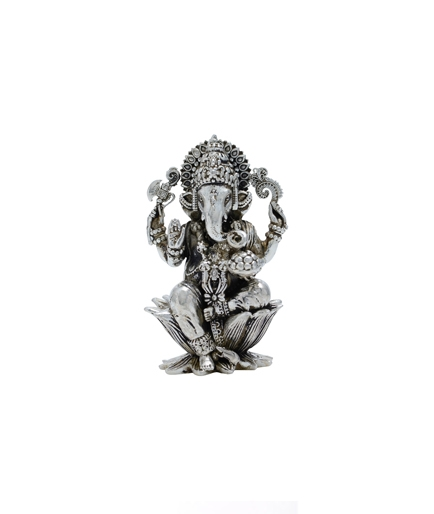 Lord Ganesh in Silver Antique