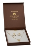 White CZs Pearls Necklace set in yellow gold polish
