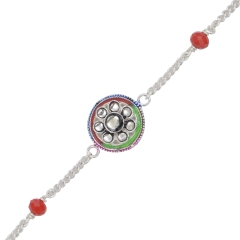 Flower Rakhi crafted in Silver