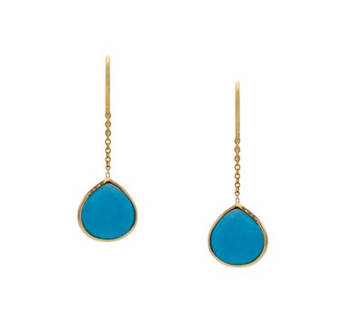 Turquoise Pear Drop Hanging Earrings