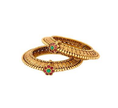 Antique Gold Kasu Bangles